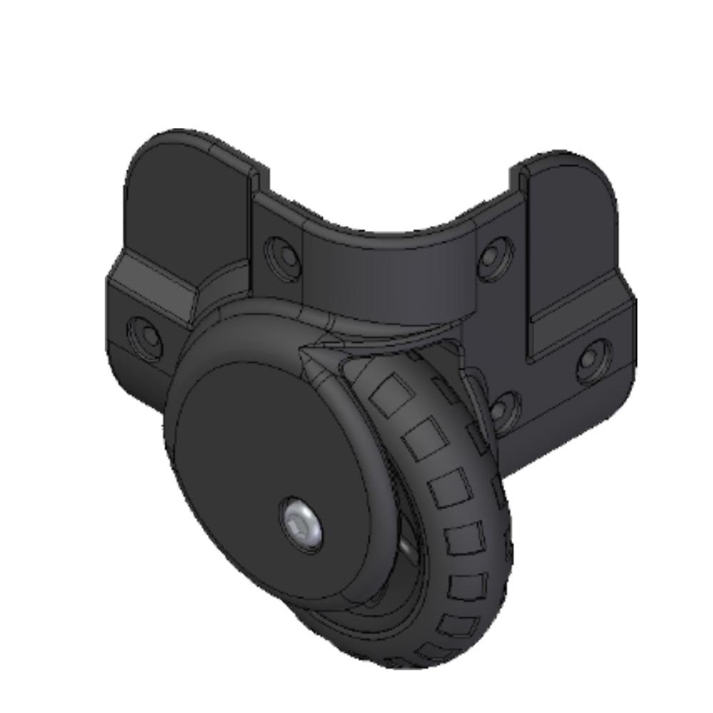 Corner wheel for IP-cases