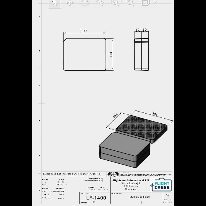 Peli 1400MLF Multilayer Foam