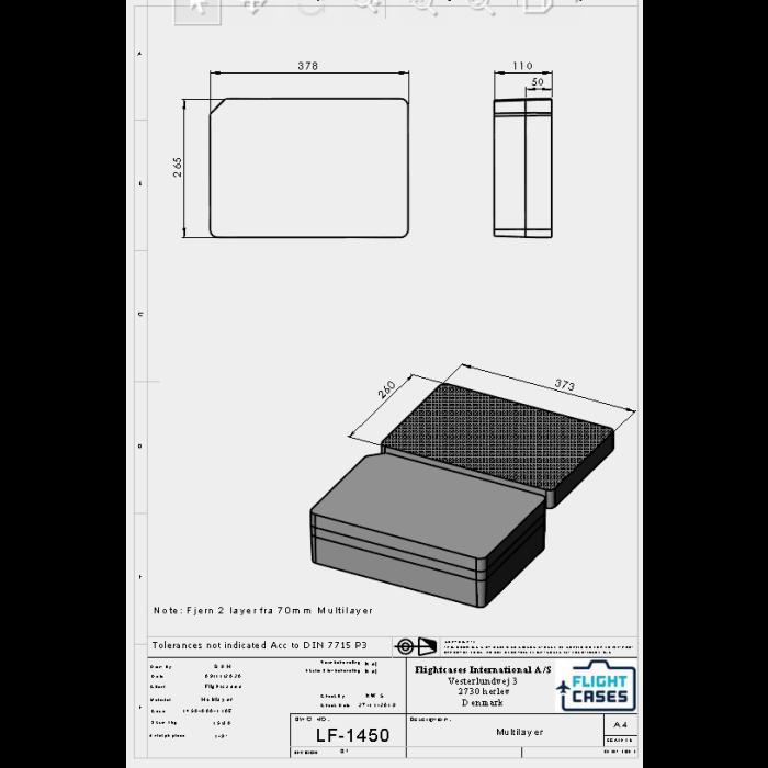 Peli 1450MLF Multilayer Foam