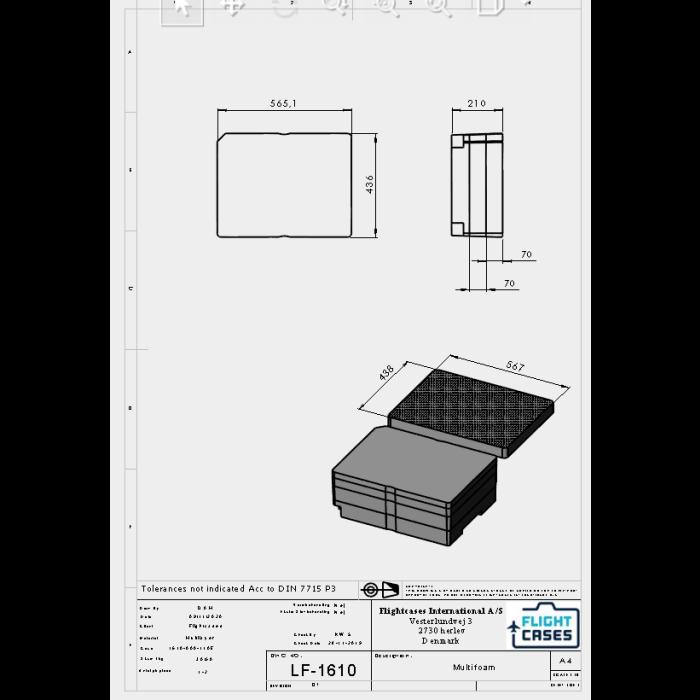 Peli 1610MLF Multilayer Foam