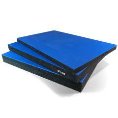 Multilayer Foam 30 mm Blue Top Cutting Service