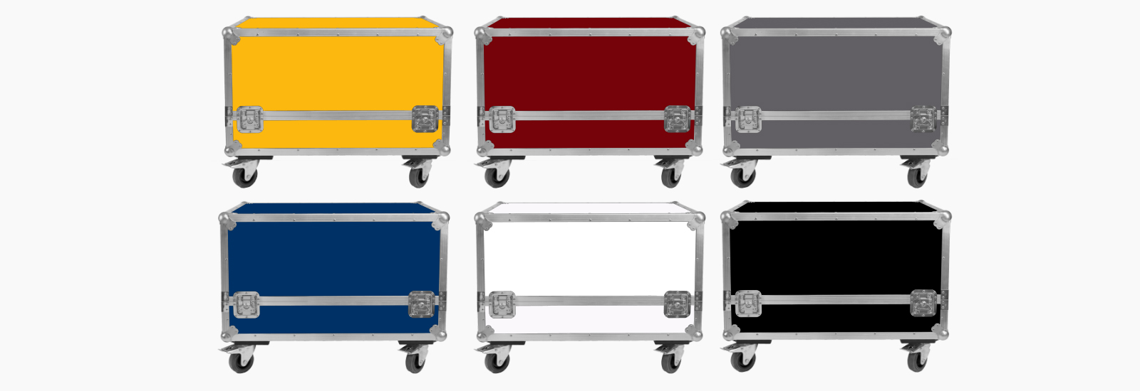 Flightcases colord